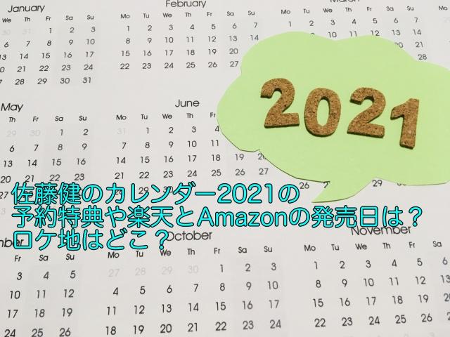 佐藤健 カレンダー 2021