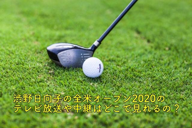 渋野日向子 全米 テレビ放送