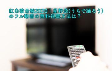 紅白歌合戦2020 星野源 動画