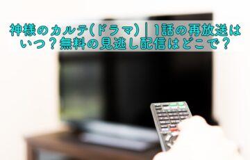 神様のカルテ ドラマ 1話 再放送