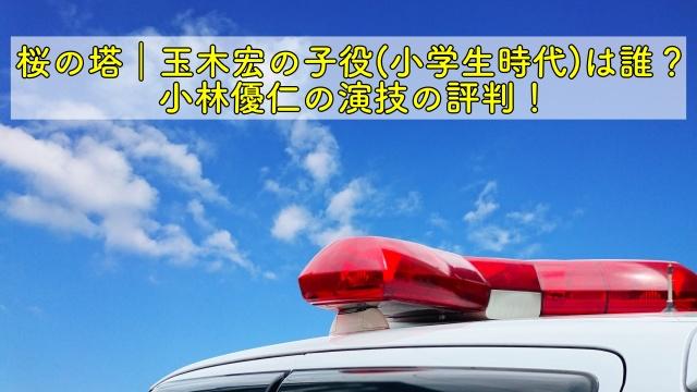 桜の塔 玉木宏 子役