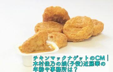 チキンマックナゲット cm 木村佳乃 娘